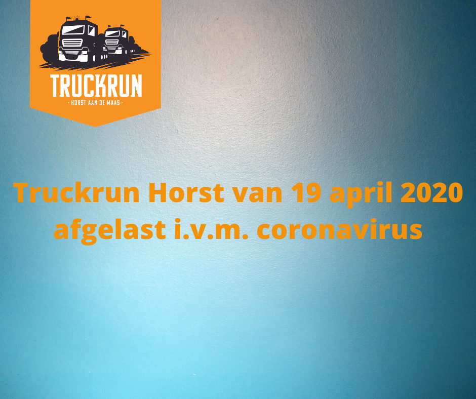 Truckrun 19 april 2020 afgelast